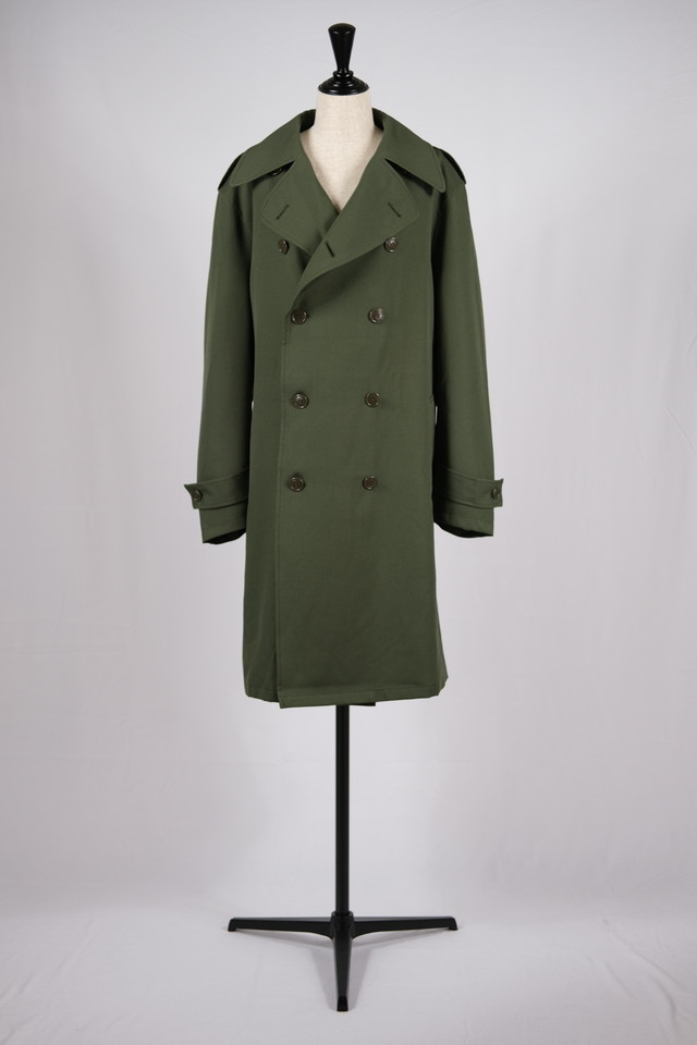 【Needles】trench coat wool twill-khaki