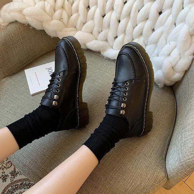 【shoes】気分を上げ日系丸トゥローヒールパンプス