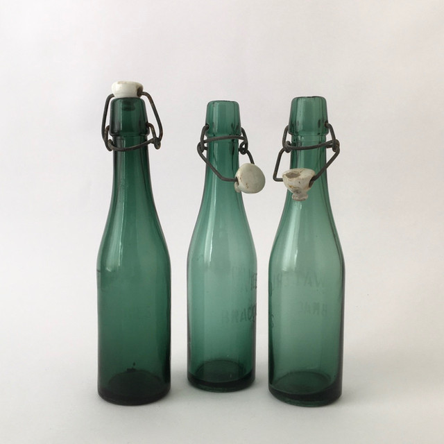 "ベルギーのヴィンテージのビール瓶 「Waterloo Bracquegnies」| Belgian Vintage Beer Bottle ""Waterloo Bracquegnies"""