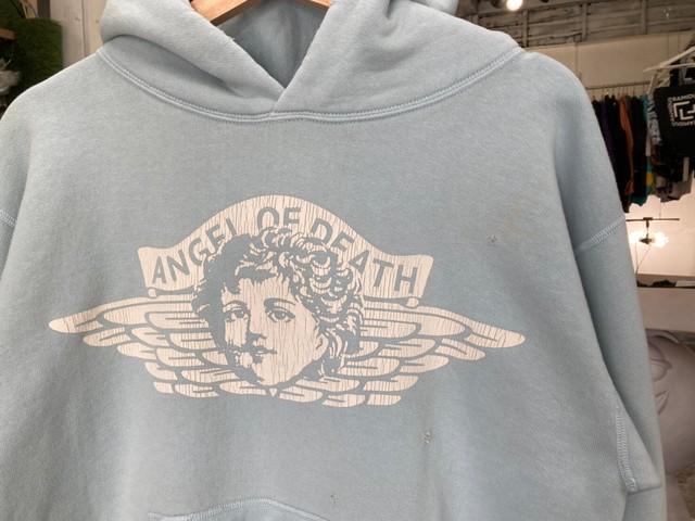 SAINT MICHAEL ANGEL HOODIE SAX SMALL 05599