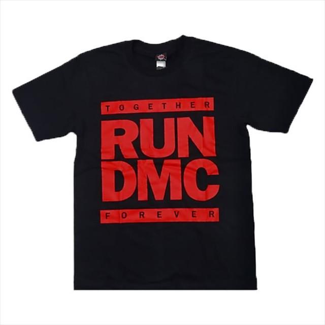 ROCK T-SHIRT 【 RUN DMC レッドカラーロゴ Together Forever】