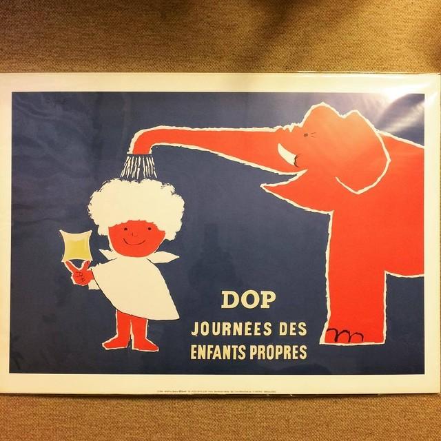 ポスター「レイモン・サヴィニャック Raymond Savignac Dop journees des enfants propres」 - メイン画像