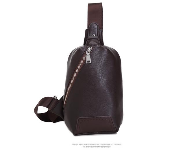ボディバッグ メンズ 革 斜めがけバッグ ワンショルダーバッグ レザー 軽量 斜め掛bag-66