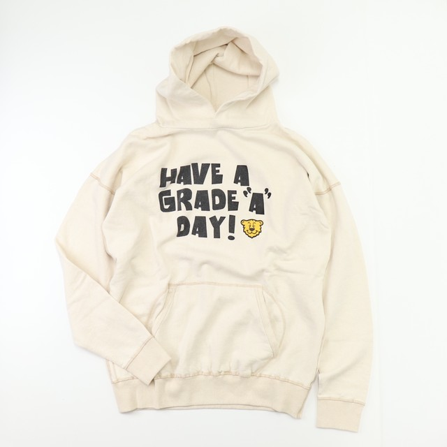 """"""" MIXTA"""" TIGER PRINT HOODIE made in USA  Ivory スウェットパーカー  M,L,XL A697"""