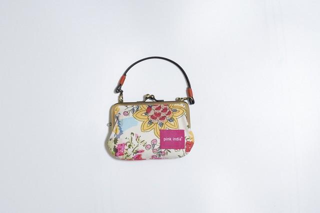 【秀和 x pink india】北欧デザイン 持ち手付手提げがまぐち財布 | tribal dance-2