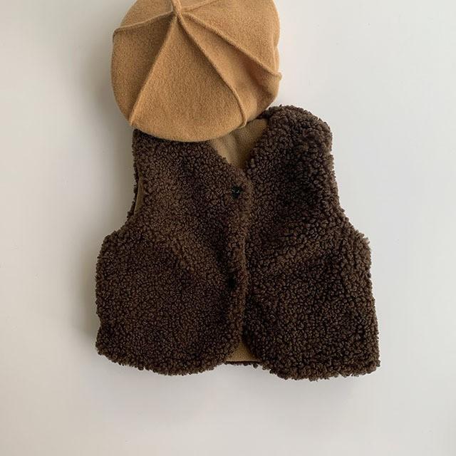 (即納) boa vest ( ボア ベスト / brown ) NE / x17504