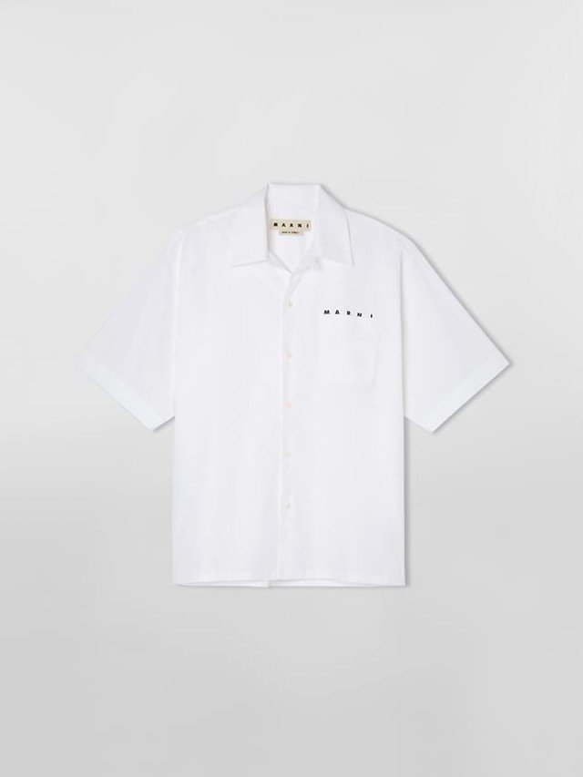 MARNI COTTON BORING SHIRT WHITE