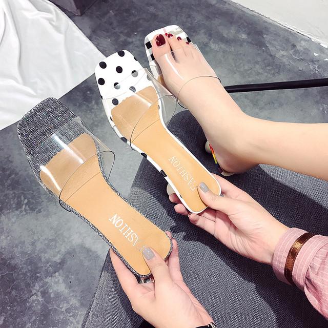 【shoes】流行ファッションシンプル夏ハイヒールサンダル
