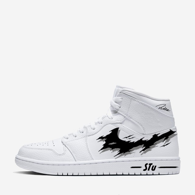 "AJ1 MID ""SCRATCH SHADOW"" WH BLK"