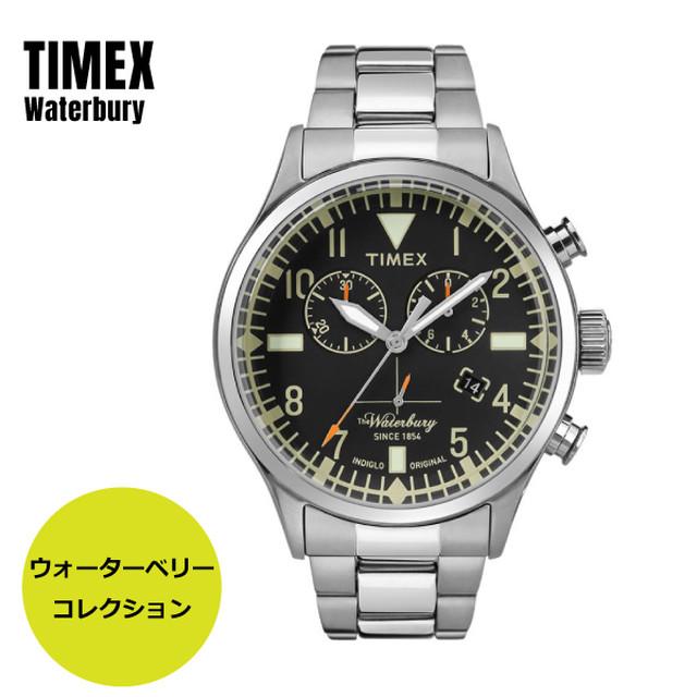 TIMEX タイメックス Waterbury TW2R24900 ウォーターベリー ブラック×シルバー 腕時計 メンズ