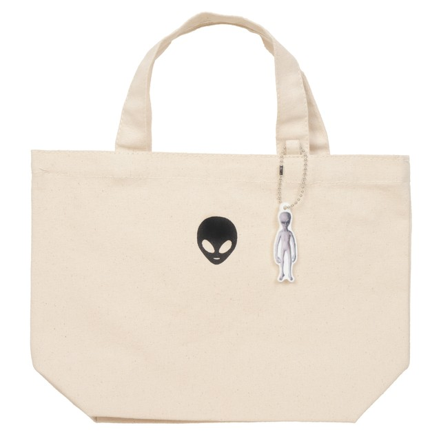 Alien Canvas Tote Bag with Quilt Charm