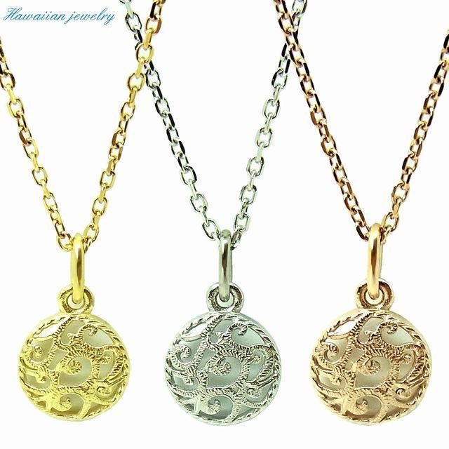 ハワイアンジュエリー ネックレス メダル イエローゴールド ピンクゴールド ステンレススチール インスタ (gps81050)