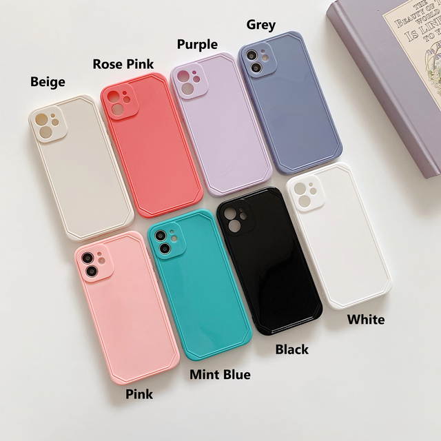 Candy color simple iphone case