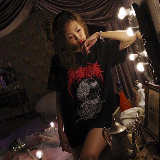 【Cotton100%】Brutal Nao Masaki Tee (Black×Red Logo)