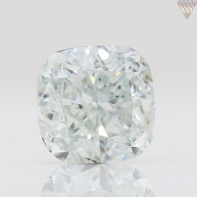 0.5 ct LIGHT  GREEN SI1 CUSHION GIA 天然  ダイヤモンド ルース