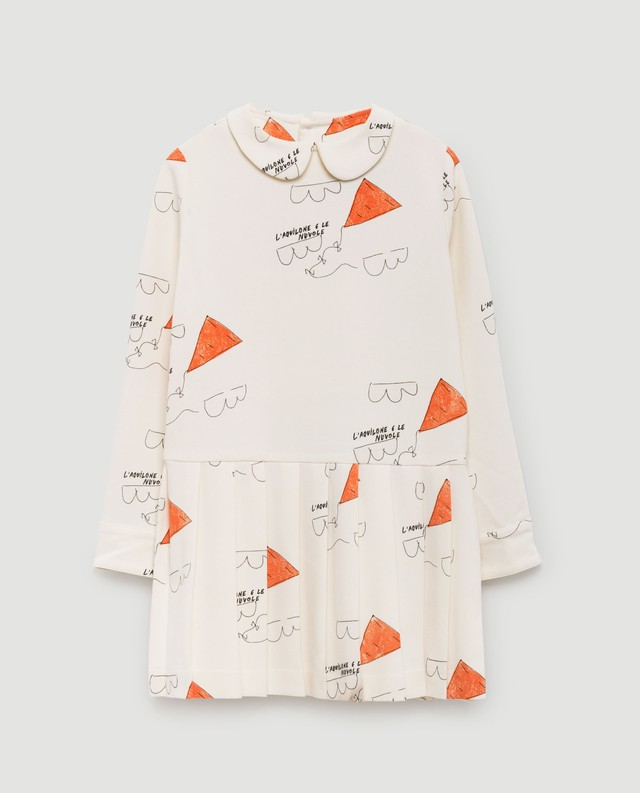 THE ANIMALS OBSERVATORY / CANARY KIDS DRESS [WHITE]