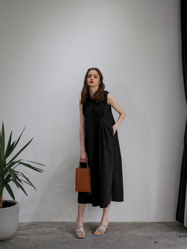 tuck summer dress(black)