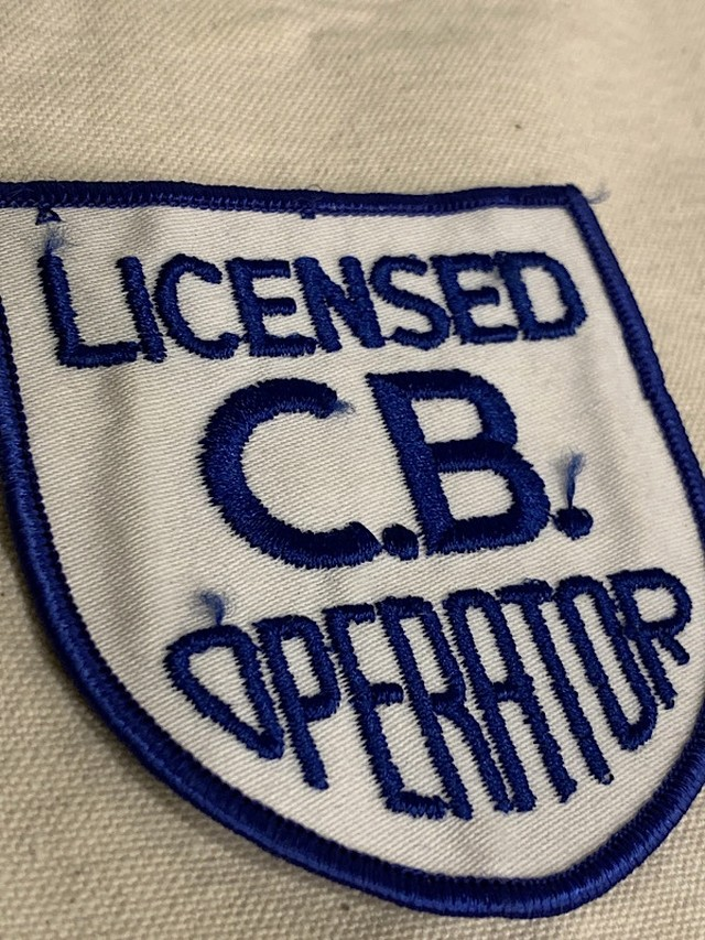 "PATCH "" LICENSED C.B. OPERATOR """
