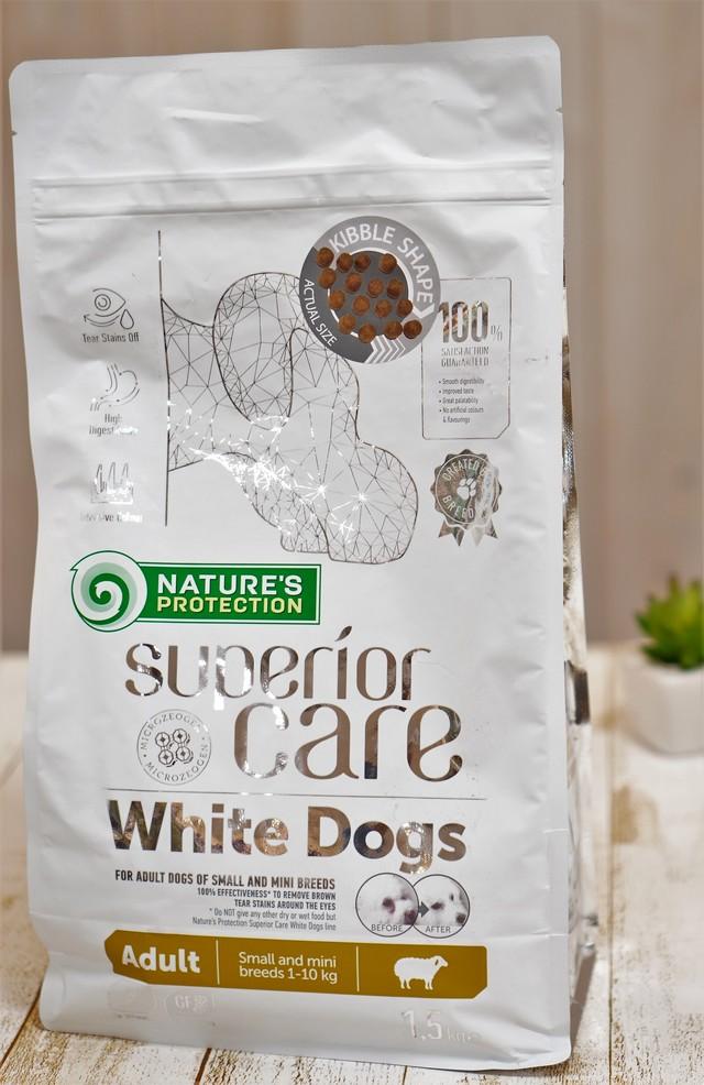 Nature's Protection ホワイトドッグ アダルト 1.5kg