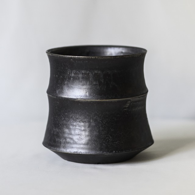 Roughness Black Plants Pot(No,17)※LARGE