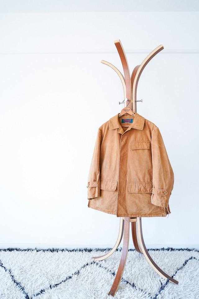 "【1950s, British】""Climatic"" Duck Cloth Hunting JKT / v492"