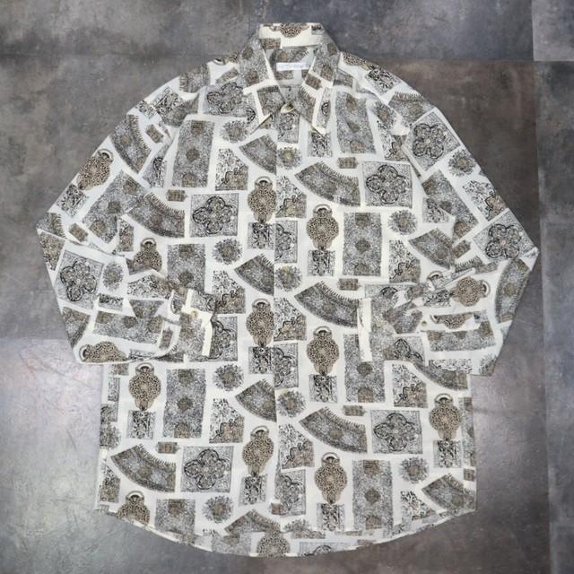 pattern all over retro design shirt