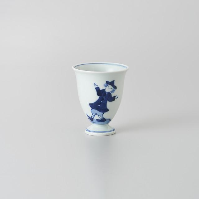 """【青花】""""クラシック異人"""" ワインカップ(うかれ異人)"""