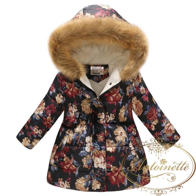 小花柄 青 コート おんなのこ ピンク あったかい 服 可愛い リボン 長袖 秋 冬 ワンピース リボン おでかけ フリル