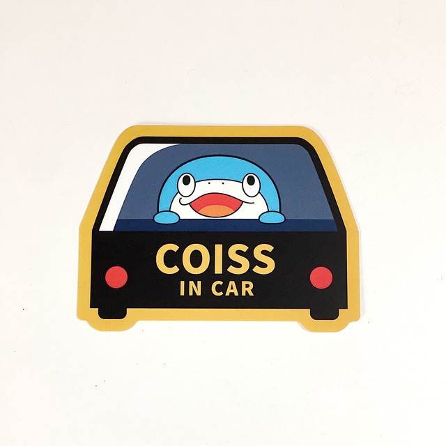 <12中旬発売>ステッカー COISS IN CAR