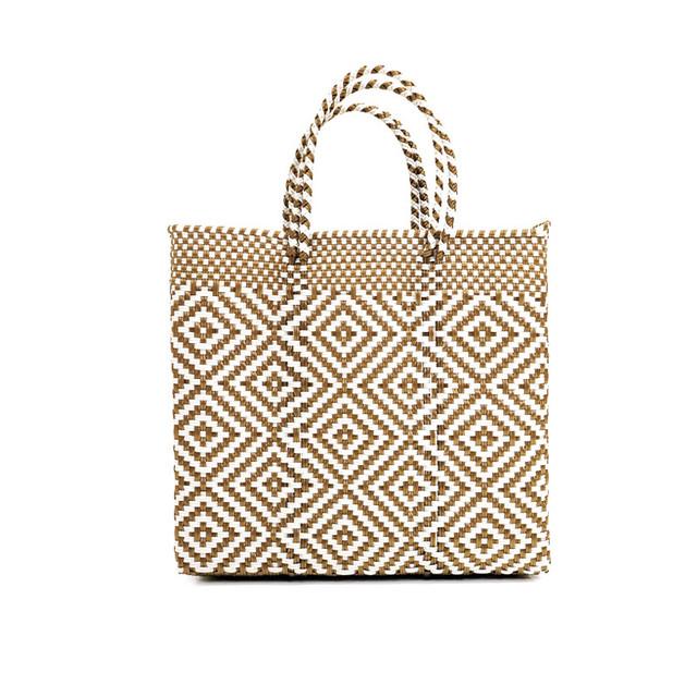 MERCADO BAG MULTI DIAMOND- Gold x White(S)