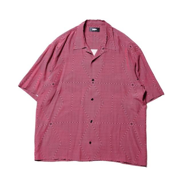 Neon half sleeve shirt / RED - メイン画像