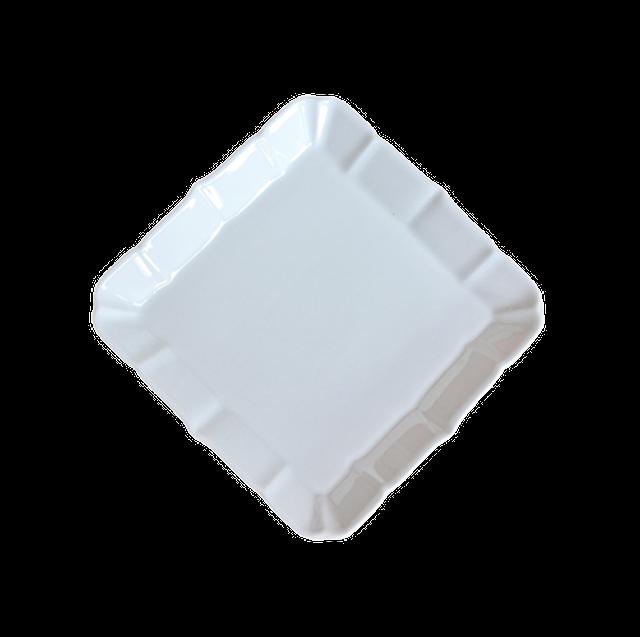 pastel rétro square dish S / パステルレトロ 正方形皿 10.9㎝
