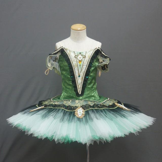【受注販売】バレエ衣装 SC173_エスメラルダ・パキータ グリーン