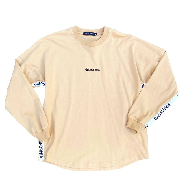 Over size tape Long sleeve Tee