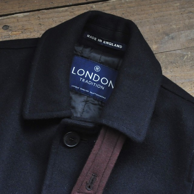LONDON TRADITION quilted coat - dark navy -