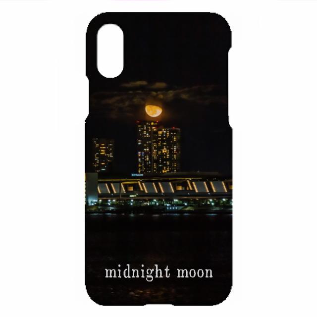 「midnight moon」i Phone XS ハードカバー