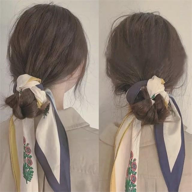 冬の優秀アイテム!レトロな雰囲気漂う菱形スカーフ *z00071