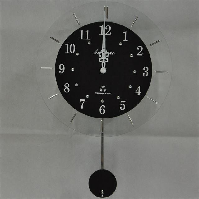 振り子時計 電波時計 電波スロー振り子時計 BIO-001 板尾工芸オリジナル - メイン画像