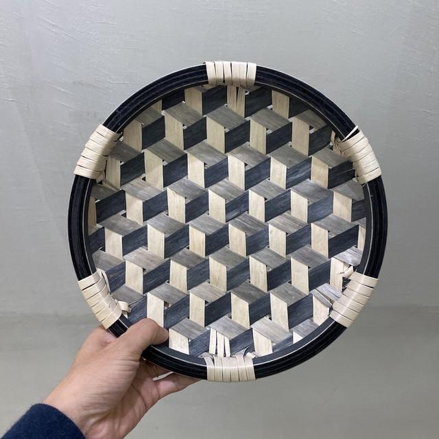 イタヤ細工 鉄線編み|盛皿|三色