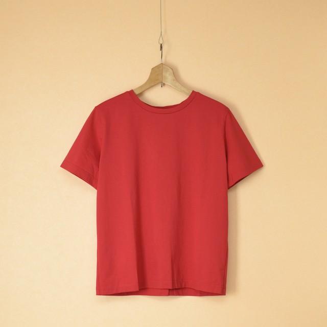 Gauze# ガーゼ G636 ソリッドTシャツ・トマト