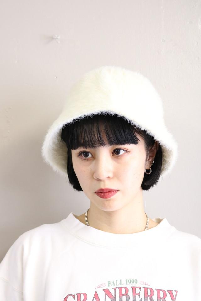 eco fur bucket hat / GD10060006