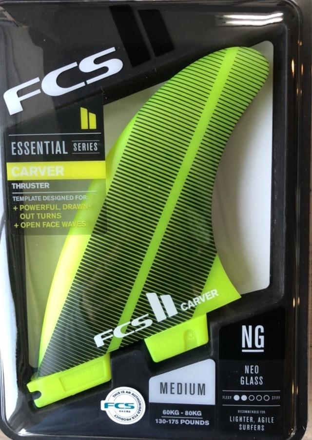サーフボード フィン FCS2 AM PC LARGE YELLOW TRI RETAIL FINS YELLOW アルメリック