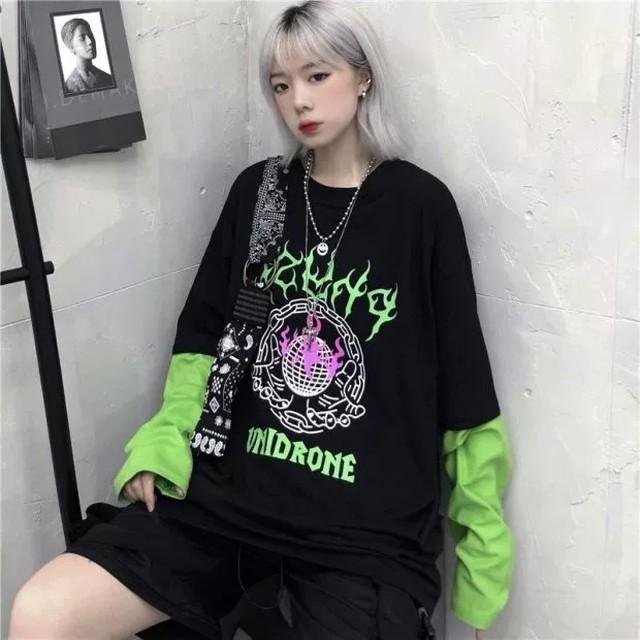【トップス】ストリート系instagram人気プリントTシャツ25968558