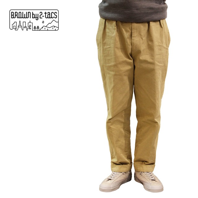 BROWN by 2-tacs    TAPERED SLACKS