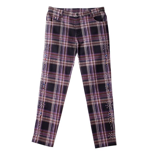 ROGIC Check Studs Pants Purple