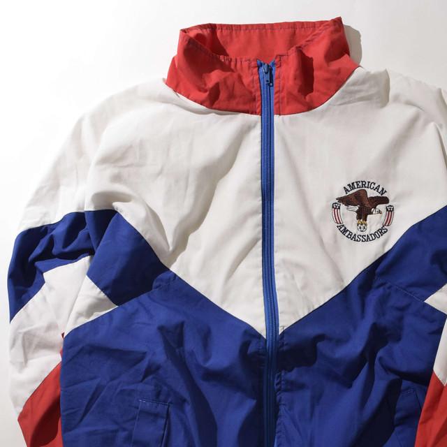 【XLサイズ】AMERICAN AMBASSADORS アメリカンアンバサダーズ  NYLON JKT ナイロンジャケット WHITE ホワイト XL 400610190926