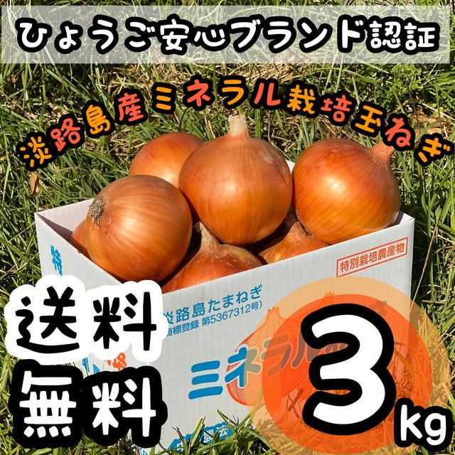 中嶋農法で作られた甘々玉ねぎ3kg ☆淡路島産☆