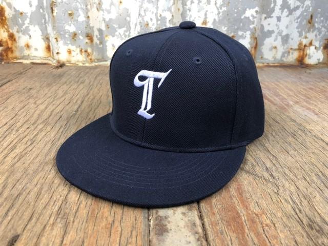 """"""" T """" LOGO スナップバック CAP(navy)"""