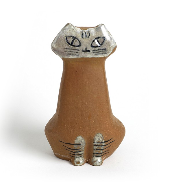 Gustavsberg グスタフスベリ Lisa Larson リサ ラーソン Liggande katt 丸まり猫-2 北欧ヴィンテージ