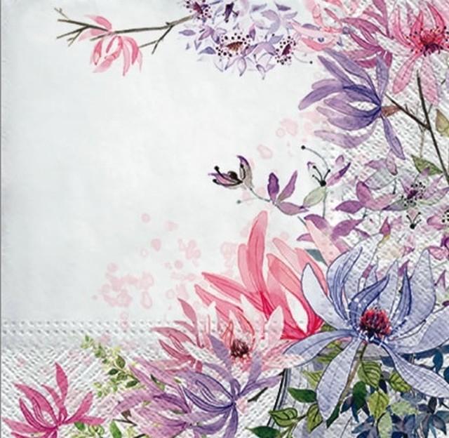 【PAW】バラ売り2枚 ランチサイズ ペーパーナプキン FOR ALL WOMEN ホワイト